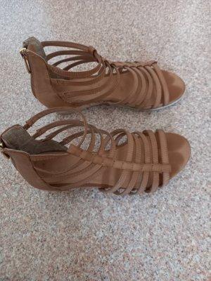 unbekannte Sandalo con plateau marrone chiaro