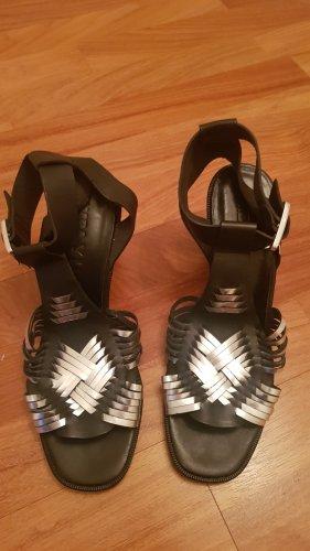 Bimba & Lola Hoge hakken sandalen zwart-zilver