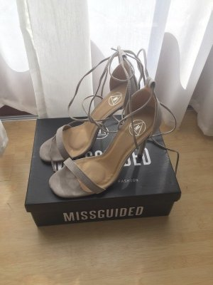 Missguided Escarpins à lacets beige