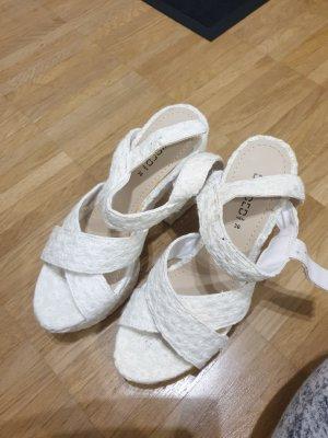 sandalen mit absatz weiß 36 h&m neu