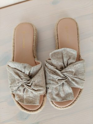 Promod Beach Sandals gold-colored