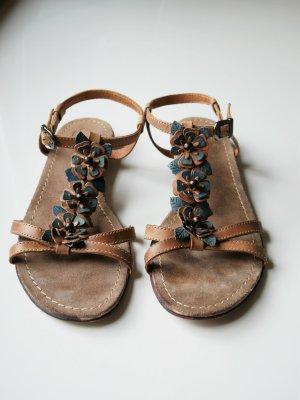 Bata Sandały z rzemykami jasnobrązowy-ciemnoniebieski