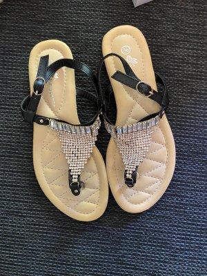 Sandalen mit Glitzer Gr. 36