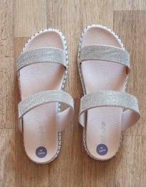 Sandalen mit Glitzer Gr 40 Neu