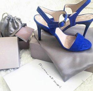 Sandalen mit höhenverstellbarem Absatz (blau)