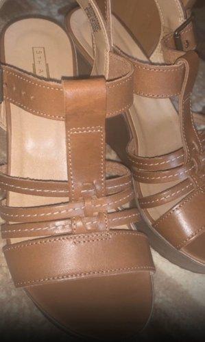 5th Avenue Platform Sandals brown