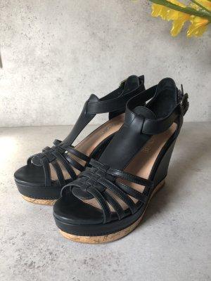 Aldo Platform Sandals black-light brown