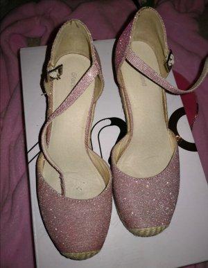Graceland Zapatos de cuña rosa claro