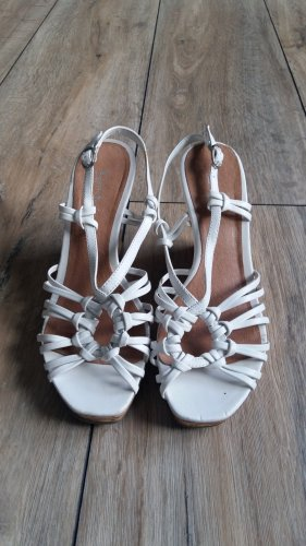 Strapped High-Heeled Sandals white