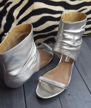 Strapped Sandals silver-colored leather
