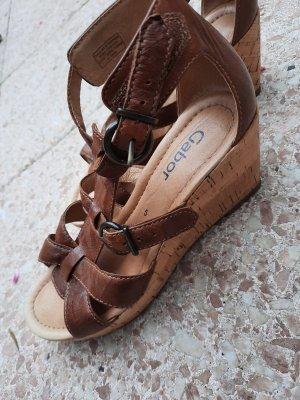 Sandalen mit Keilabsatz von Gabor in Gr. 38