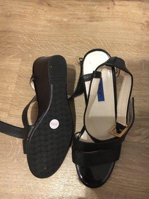 Joop! Plateauzool sandalen zwart