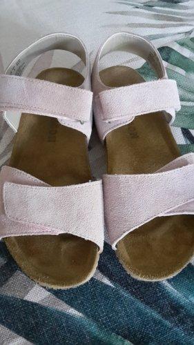 Comfortabele sandalen rosé Imitatie leer