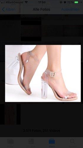 Sandalo con cinturino bianco sporco