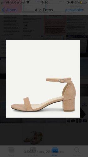 Sandalen mit Knöchelriemen und Absatz
