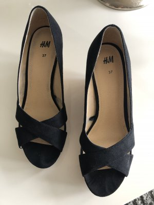 H&M Sandales à talons hauts et plateforme noir