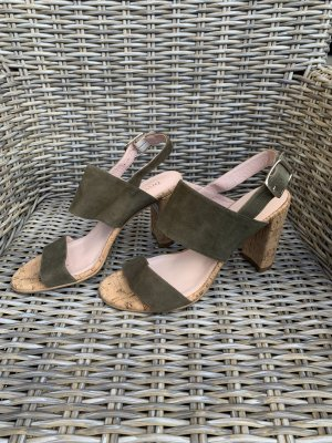 Clog Sandals khaki leather
