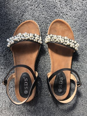 Sandalen mit Perlen - Größe 40