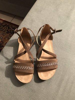 Graceland Strapped Sandals camel-beige