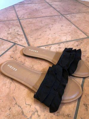 Pieces Comfortabele sandalen zwart