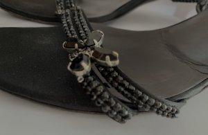 Sonia Rykiel Sandalias de tiras negro-color plata