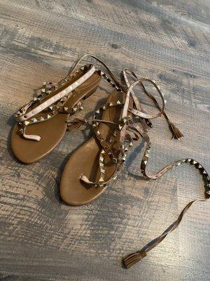 SheIn Toe-Post sandals brown mixture fibre