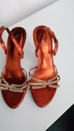 High Heel Sandal dark red