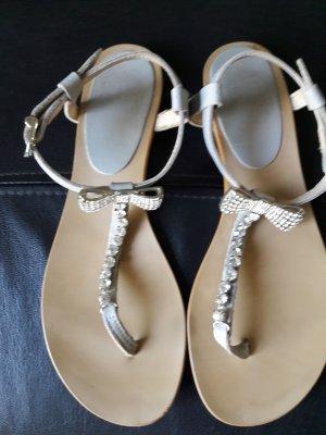 Alba Moda Sandalo toe-post grigio chiaro Pelle