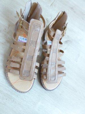 Sandalo romano beige-color cammello Finta pelle