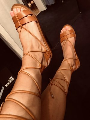 Ralph Lauren Roman Sandals cognac-coloured