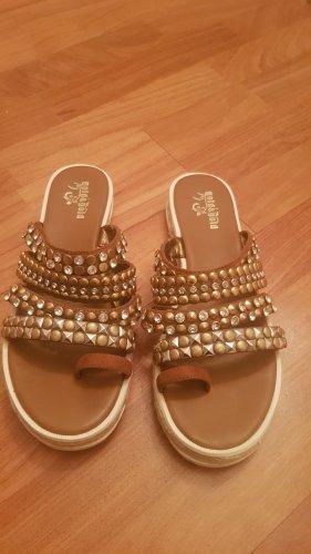 Sandalen, Pailletten, neuwertig