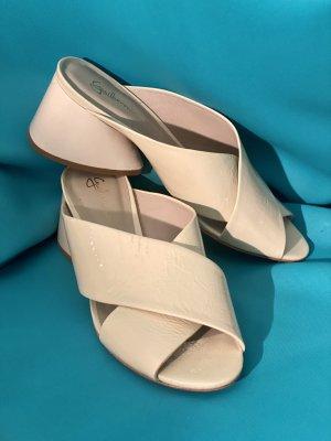 Anthropologie Sandalo con plateau crema Pelle