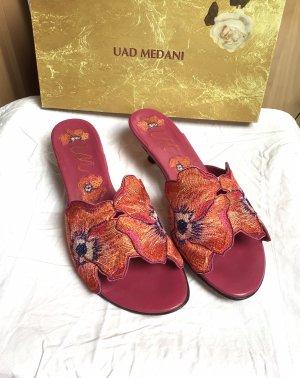 Uad Medani Heel Pantolettes multicolored leather