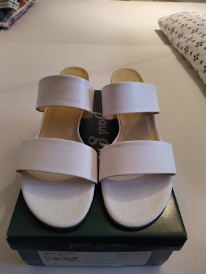 Sandalen Pantoletten weiß Leder Größe 41