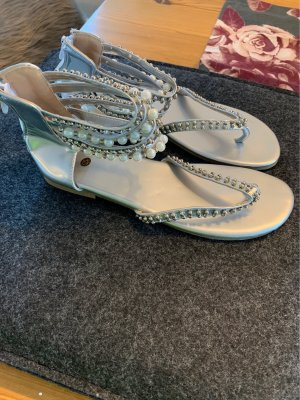 Toe-Post sandals silver-colored