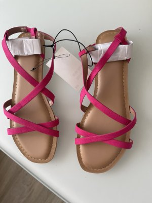 H&M Sandalen met bandjes en hoge hakken veelkleurig