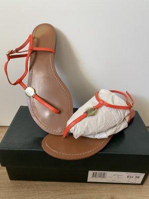 Lauren by Ralph Lauren Toe-Post sandals orange