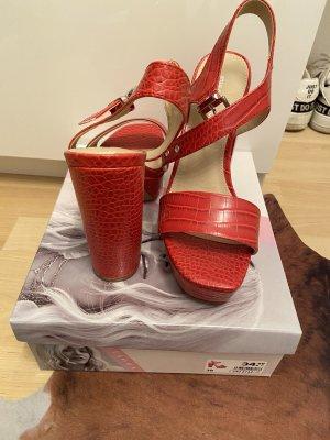 Rita Ora Platform Sandals red