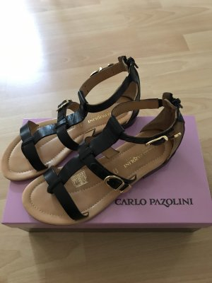 Carlo Pazolini Roman Sandals black leather