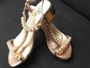 Romeinse sandalen roségoud