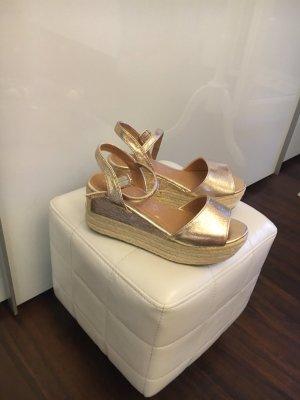 Marypaz Sandalo alto con plateau color oro rosa-bianco sporco