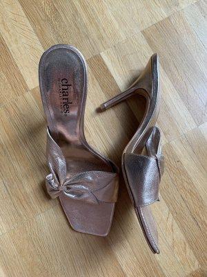Sandalen roségold 36,5 Schleife