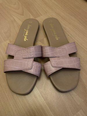 New Look Sandały plażowe różowy
