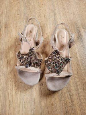 Sandalen Schuhe Alma en Pena beige Steinchen
