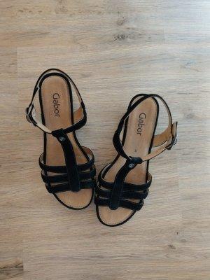 Sandalen Schuhe Gabor 38 schwarz wie neu