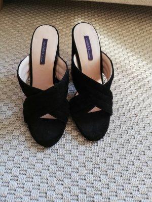 Sandalen schwarz / Absatz