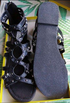 Deichmann Romeinse sandalen zwart-zilver Leer