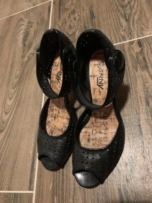 Sandalen schwarz Peeptoe neuwertig