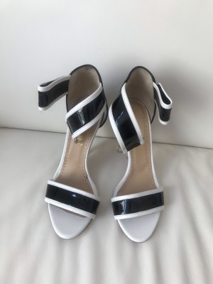 Sandalen schwarz-weiß Gr. 38