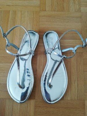 El Corte Ingles Comfortabele sandalen zilver